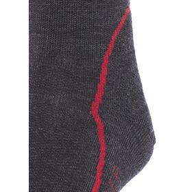 Icebreaker Hike+ Light Crew Socks Men jet hthr/red/black